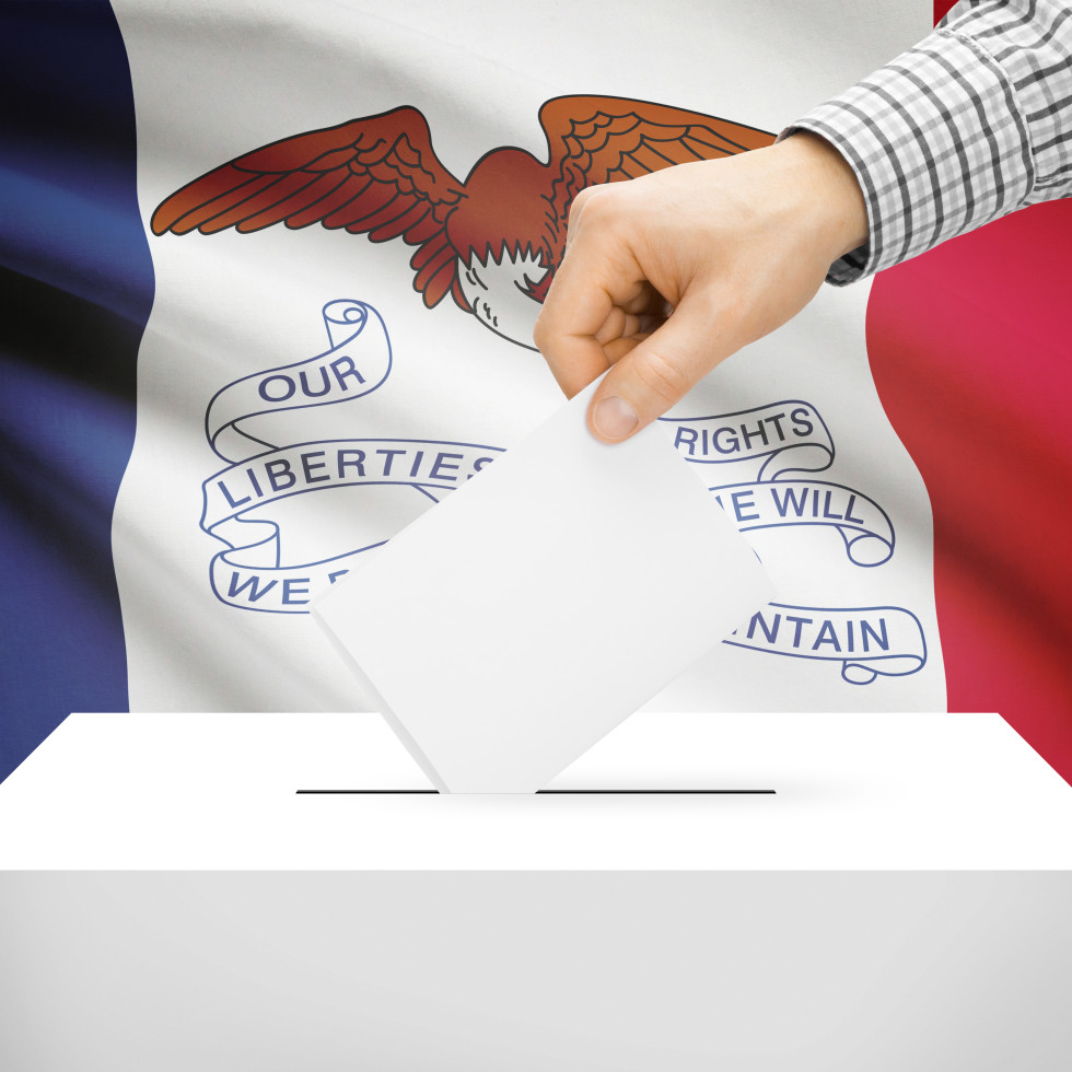Iowa ballot box