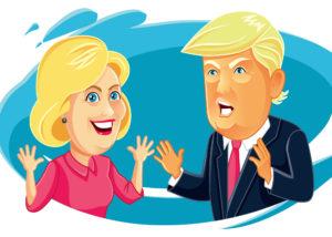hillary-trump-caricature